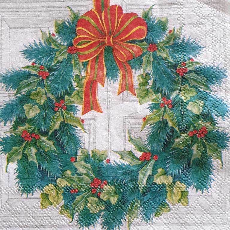 Χαρτοπετσέτα με χριστουγεννιάτικο σχέδιο 17*17