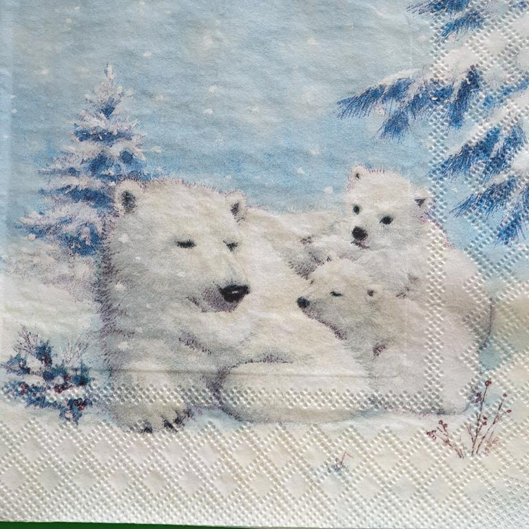 Χαρτοπετσέτα με χριστουγεννιάτικο σχέδιο 17*17                              (3)