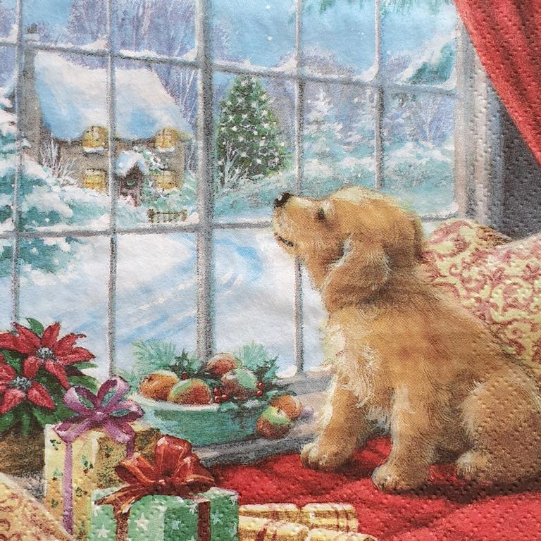 Χαρτοπετσέτα με χριστουγεννιάτικο σχέδιο 17*17                              (4)
