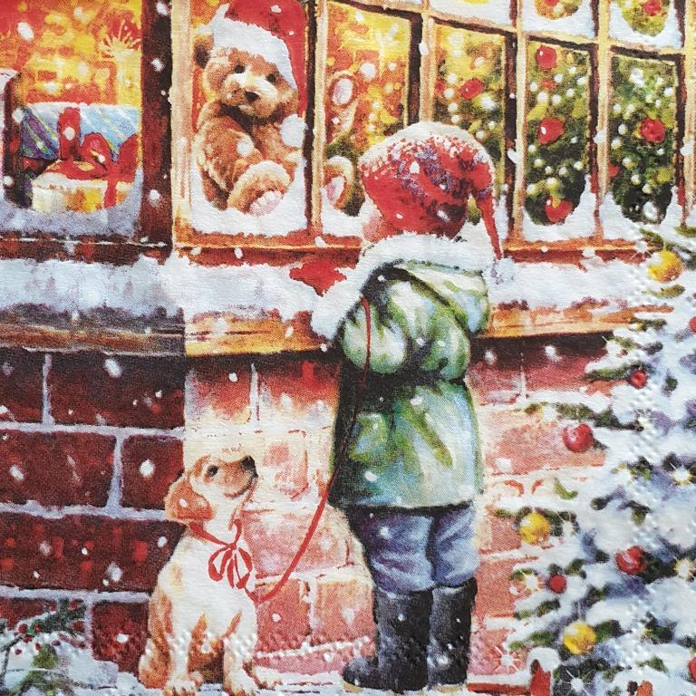 Χαρτοπετσέτα με χριστουγεννιάτικο σχέδιο 17*17                              (6)