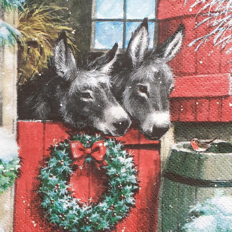 Χαρτοπετσέτα με χριστουγεννιάτικο σχέδιο 17*17                              (7)
